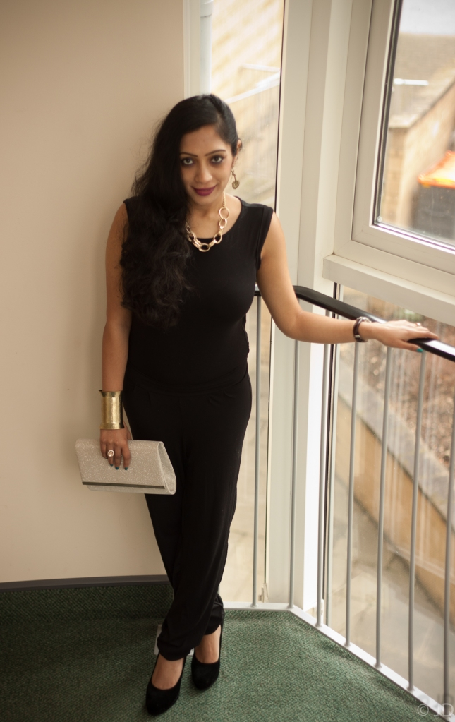 Black jumpsuit how to style
