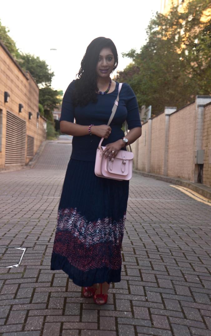 maxi skirt postpartum style