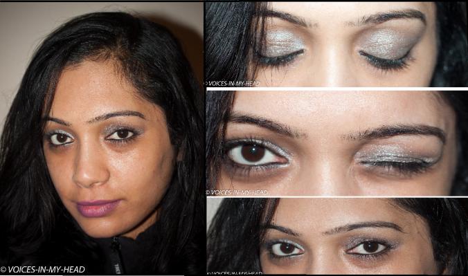 metallic eye trend