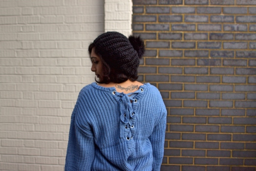 Oversized sweater fashion from Romwe